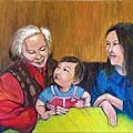 陪伴-我參加張啟華文化藝術基金會<隨風.微光-第十二屆安寧療護繪畫比賽一般組>第28號作品(陪伴)