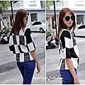 [穿搭]知性/氣質/俐落輕鬆打造❤ 都市風西裝外套+個性黑白拼接針織衫