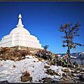 貝加爾湖~藏傳佛教的白塔(奧利洪島)