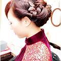 傳統祺袍文訂造型--復古編髮低磐
