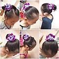 寶貝DIY教學-緞帶花髮圈