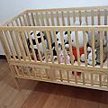 實木嬰兒床-9種多功能變化