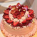 屏息生日蛋糕