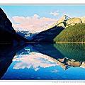 風景旅遊-倒映心湖的洛磯山脈