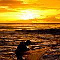 台東金崙溪撈魚苗看日出
