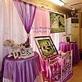 優雅浪漫粉紫色婚禮佈置@屏東水底寮枋寮阿萬海產
