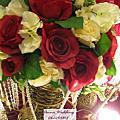 紅色基調婚禮佈置@榮勝餐廳