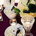 典雅珍珠風-珍珠白+紫婚禮佈置@丸山餐廳
