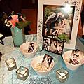 清新高雅藍+典雅珍珠婚禮佈置@桃山餐廳二樓