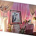浪漫珠鍊的典雅婚禮佈置@戶外流水席