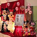 活潑亮眼的米奇米妮Mickey Mouse主題婚禮@崇德里活動中心