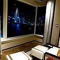 香港半島酒店豪華海景套房臥室