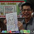20121027 林口長庚  世界中風日  手繪Q版畫現場活