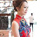 新娘秘書|歐美新娘鮮花造型+典雅旗袍IN大直典華 BRIDE 柔(1)