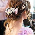 新娘秘書|歐美新娘鮮花造型+典雅旗袍IN大直典華 BRIDE 柔(2)