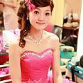 台北新娘秘書雅芳 娃娃大眼 瀏海編髮 (第三次進場,送客造型)