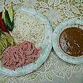 2012-0802 南西廚房 晚餐 涼麵(石碇許家手工麵線)