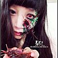 ♥主題特效化妝♥萬聖節妝容『蟑螂寄生者』