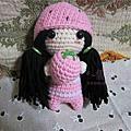 毛線編織-可愛的草莓娃娃