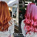 【髮妝/漸層粉紫玫瑰金髮】染個美美髮色好過年 ! 滿足少女心的玫瑰金夢想 ♡ 高雄加慕秀JMS Hair Salon