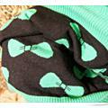 2010 韓版 ♥ 綠色底黑色蝴蝶上衣