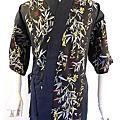 日式料理服-印花布