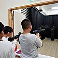 宜蘭五結觀光景點|鬥陣來七桃體驗館-變身特務穿越雷射房間、使用VR魔法讓自己彩繪的魚動起來~