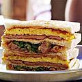 嘉義文化路美食 銅板價格享受火烤美味三明治,還有正妹老闆娘料多味美的大腸麵線喔! 碳烤三明治&腸玖大腸麵線