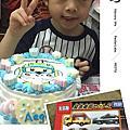 *2017.04.22-學校跳蚤市場花的派對晚上吃溫體牛慶彥齊五歲生日