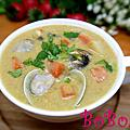 泰式綠咖哩海鮮蘑菇濃湯