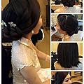 短髮盤髮 韓風編髮 浪漫女神
