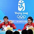 2008北京奧運網球男雙金牌:瑞士Federer & Wawrinka!!!