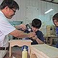 木工工房老師與學生作品-青松輕鬆DIY木工教室