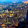 香港夜景~飛鵝山的自殺崖
