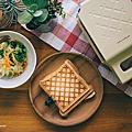 【物‧分享】麗克特 Quilt 格子三明治機 開箱‧初體驗 / 明太子起士熱壓吐司