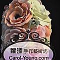 客製皇家浪漫瑰麗五層結婚蛋糕模型