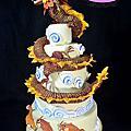 黃明華完成龍蛋糕模型