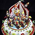 2012學生陳亭羽初次參加杏仁膏藝術裝飾蛋糕比賽的作品,期待她明年的作品