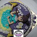 學生張名明-人形蛋糕裝飾課程(翻糖裝飾,真蛋糕)
