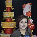 蘿漾客制豪華結婚蛋糕模型-201209-蝴蝶