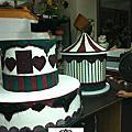 2012年12月高雄科工館歡樂蛋糕城工藝蛋糕展(6m櫃旋轉木馬翻糖裝飾藝術)