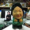 2012年12月高雄科工館歡樂蛋糕城工藝蛋糕展(可愛的花媽-高雄市長陳菊-翻糖裝飾藝術)