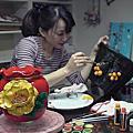 培訓學生王雅娟-家飾作品花瓶-201301-進行中