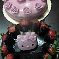 培訓學生黃慧卿-烘焙課程-草莓&苦甜黑巧克力慕斯-201202