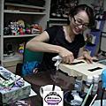 VIP王雅娟度假回來上課製作紫籐面紙盒