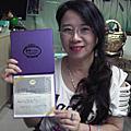 學員陳素秋-修畢蕾絲蛋糕裝飾證書課程