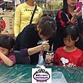 蘿漾3位助理老師在天母大葉高島屋杯子蛋糕裝飾教學