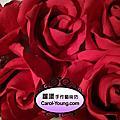 嘉義耐斯王子飯店訂製2座仿真5層豪華結婚蛋糕-粉紅蕾絲玫瑰蛋糕+大紅玫瑰菱格紋蛋糕