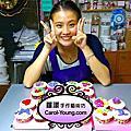 學員許鈺佩-杯子蛋糕烘培+翻糖蛋白糖霜裝飾