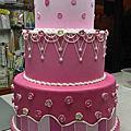 屏東連興和樂餐廳訂作宴會廳蛋糕模型(蛋糕塔)52cmx52cmxH60CM